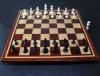 Bloodwood, Bubinga, Maple -inlay frame- tournament size chess board image(1)