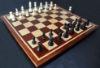Bloodwood, Bubinga, Maple -inlay frame- tournament size chess board image(3)