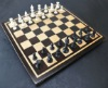 Peruvian Walnut - Maple Chess board with curly maple inlay frame -2¼ inch squares image (2)