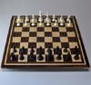 Walnut and Maple Chess Board with Curly Maple inlay frame image 1