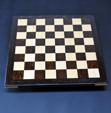 Wenge and Curly Maple Analysis Chess Board img 1