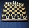 Peruvian Walnut and Curly Maple Chess board with inlay frame -2½ inch squares image 2