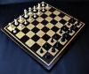 Peruvian Walnut and Curly Maple Chess board with inlay frame -2½ inch squares image 3