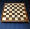 "Walnut and maple Chess board 2.25"" squares with Cherry delimiter and Walnut frame image 1"