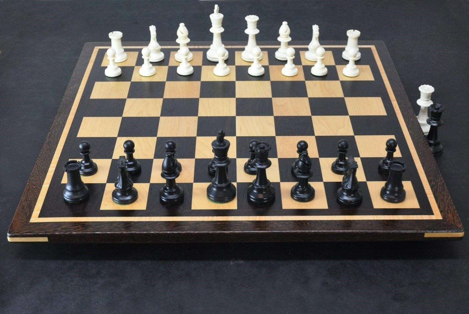 Picture of Wenge Chess Board with 2 inch squares and curly Maple inlay frame