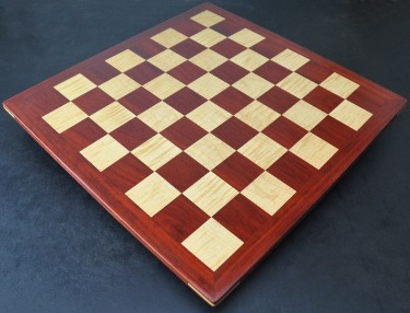 Padauk and Maple Chessboard 2¼ inch squares image (3)