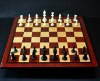 Padauk and Maple Chessboard 2½ inch squares and Wenge border image 5