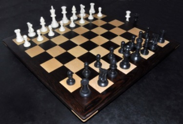 Picture of Wenge Chess Board with 2¼ inch squares + pieces