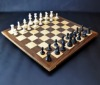 Walnut and Maple Chessboard with Walnut Frame image 2