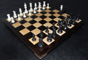 Picture of Wenge Chess Board with 2½ inch squares