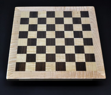 Walnut and maple with maple frame 1½ inch squares image 1