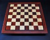 Padauk and Maple Chessboard 2½ inch squares and Wenge border image 1