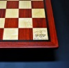 Padauk and Maple Chessboard 3 inch squares and Wenge border image 3