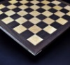 Walnut and Curly Maple Chess Board with Simple Walnut Frame image 2