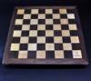 Walnut and Curly Maple Chess Board with Simple Walnut Frame image 3