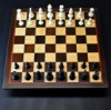 Peruvian Walnut and Maple Chess board with Bubinga delimiter -2¼ inch squares image 1