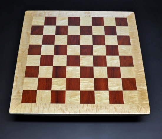 Bloodwood and Curly Maple with Curly Maple frame with 2 inch squares image 1