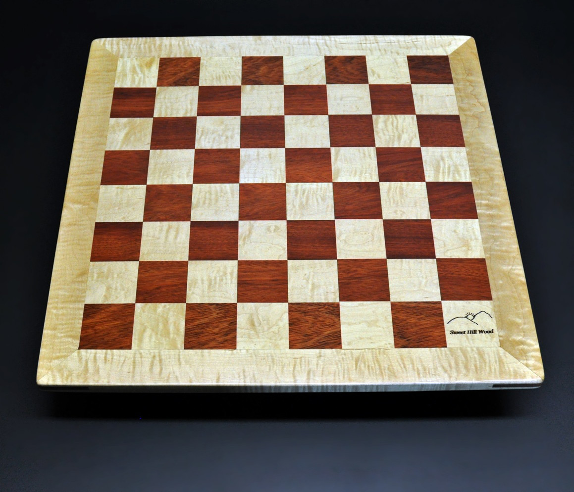 Bloodwood and Curly Maple with Curly Maple frame with 2 inch squares image 2
